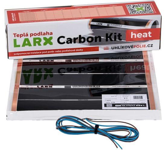 LARX Carbon Kit heat 900 W, vykurovacia fólia pre svojpomocnú inštaláciu, dĺžka 10 m, šírka 0,5 m