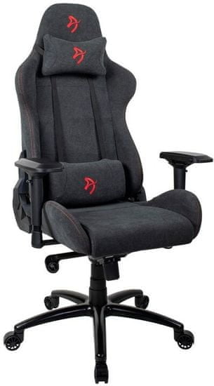 Arozzi Fotel Verona Signature Soft Fabric, czarny/czerwony (VERONA-SIG-SFB-RD)