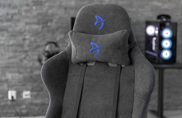 Fotel Gaming Arozzi Verona Signature Soft Fabric, czarny/czerwony (VERONA-SIG-SFB-RD) podparcie lędźwi i szyi, podłokietniki 4D, postawa