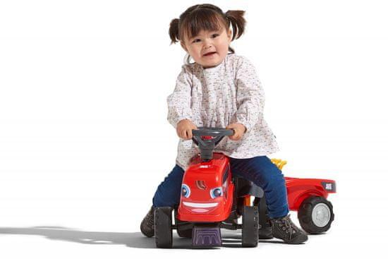 Falk pchacz dziecięcy Same Dorado, czerwony, z kierownicą i przyczepką