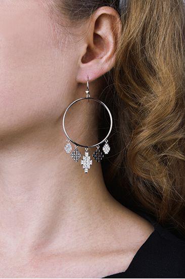 Karl Lagerfeld Luxusní náušnice s krystaly Argentina Gypsy 5483651