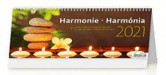 Kalendář 2021 stolní: Harmonie/Harmónia, 321x134