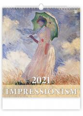 Kalendář 2021 nástěnný Exclusive: Impressionism, 450x520