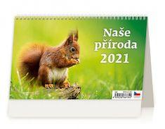 Kalendář 2021 stolní: Naše příroda, 226x139