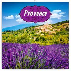 Kalendář 2021 poznámkový: Provence - voňavý, 30 × 30 cm