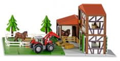 SIKU World 5609 Staje s konji in traktorjem