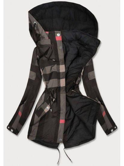 Amando Oboustranná bunda šedo- černá W655BIG