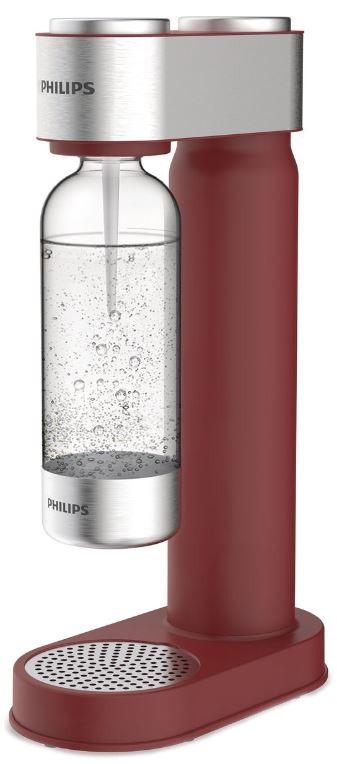 Philips Výrobník sody ADD4902RD/10, červený