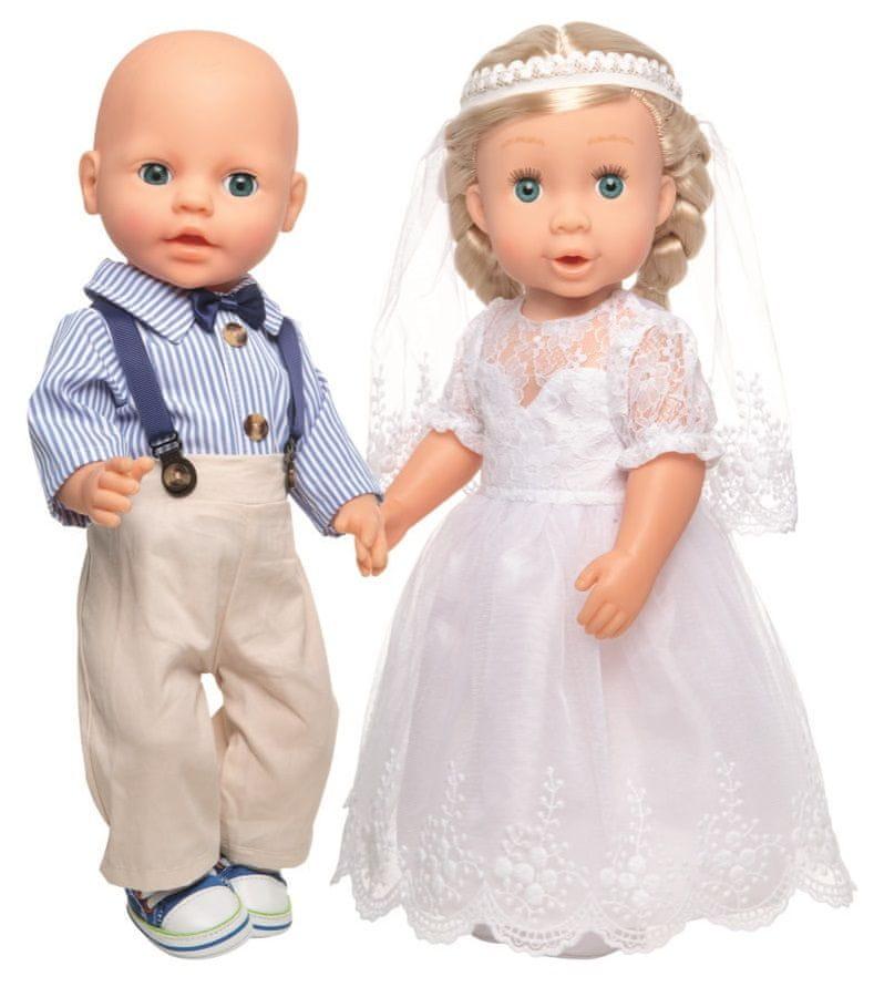 Heless Šaty svatební pro panenku Nevěstu 35-45 cm
