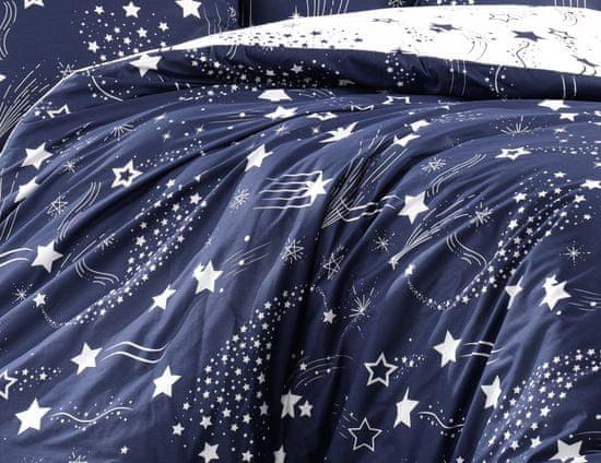 BedTex posteljina Galaxy, 140x200/ 70x90 cm, plava