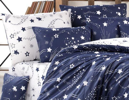 BedTex posteljnina Galaxy, 220x200/ 2x 70x90 cm, modra