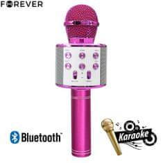 Forever BMS-300 mikrofon in zvočnik, roza