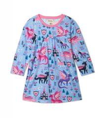 Hatley dekliška obleka, 122, modra