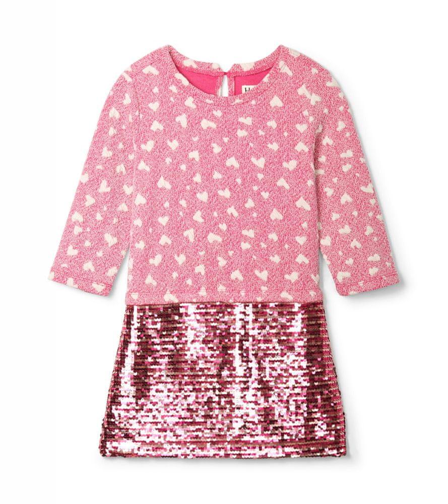Hatley dívčí šaty růžová 98