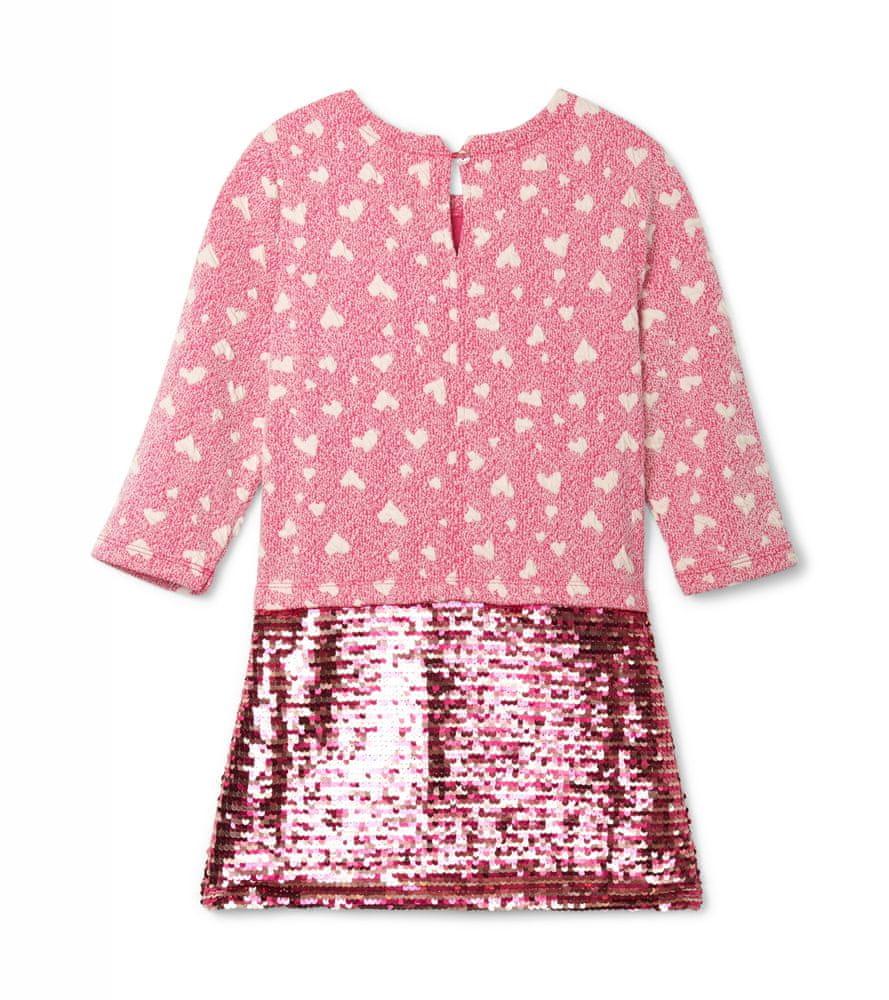 Hatley dívčí šaty růžová 128