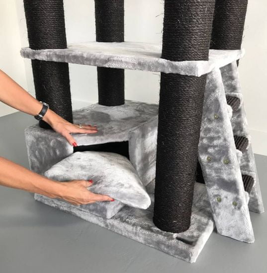 RHR Quality Mačje drevo Corner Coon Blackline Light Grey