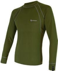 Sensor Double Face moška majica z dolgimi rokavi, M, zelena