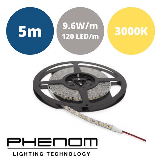 PHENOM LED trak 5m 9,6W/m IP20 toplo beli 3000K