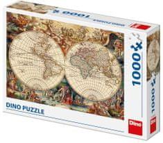 DINO puzzle mapa historyczna 1000 elementów