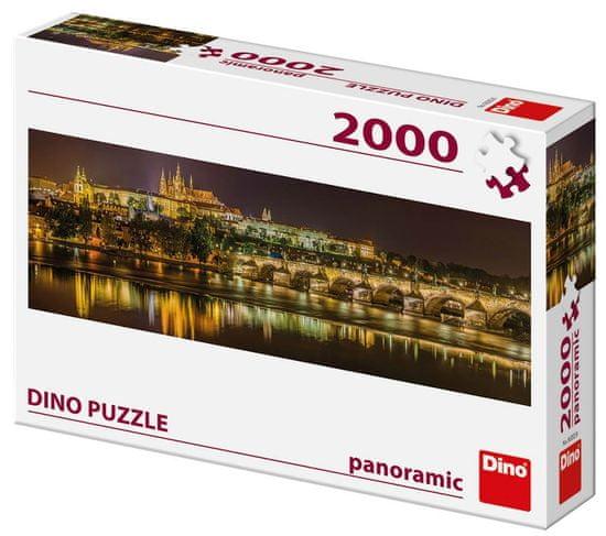 Dino Karlův most v noci 2000 dílků