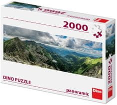 Dino Roháče panoramic puzzle 2000 dílků