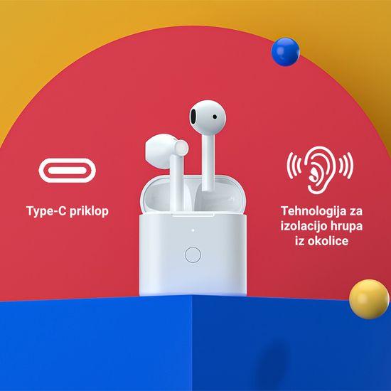 Xiaomi QCY T7 brezžične športne slušalke, TWS, Bluetooth 5.1