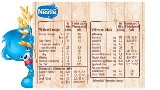 Nestlé Mléčná kaše Pšenično Ovesná Malina Banán na dobrou noc (3x250g)