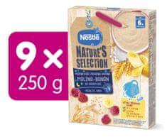 Nestlé NATURE´S SELECTION pšenično-ovesná Malina Banán (9× 250g) EXPIRACE 7/2021