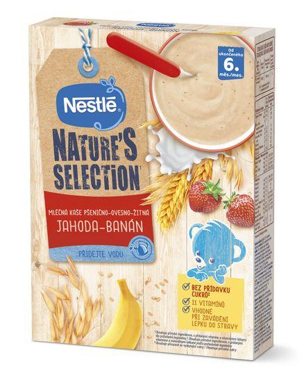 Nestlé NATURE´S SELECTION pšenično-ovesno-žitná Jahoda Banán (9× 250g)