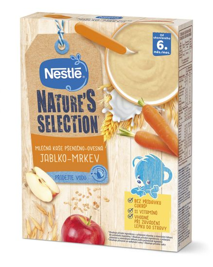 Nestlé NATURE´S SELECTION pšenično-ovesná Jablko Mrkev (9× 250g)