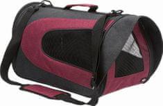 Trixie ALINA nejlon hordozó táska hálóval, 27x27x52 cm, antracit/bordó, max. 5 kg