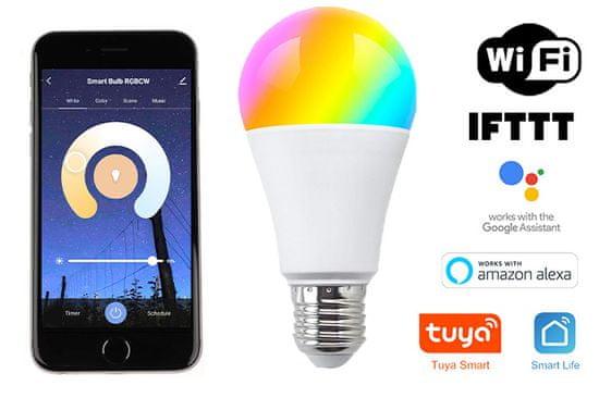 Aluzan Color Sun E27 Wifi, 9W, 1000lm, Smart Life App