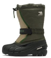 Sorel Youth Flurry DTV Alpine Tundra otroški zimski čevlji, zeleni, 34