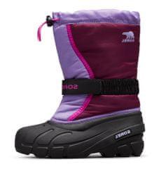 Sorel Youth Flurry DTV Purple Dahlia dekliški zimski čevlji, vijolični, 38