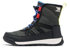 Sorel Youth Whitney II Short L Coal otroški zimski čevlji, temno sivi, 34