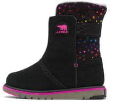 Sorel Youth Rylee BLK Stars Black dekliški zimski škornji, črni, 32