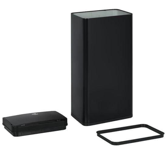 shumee Automatyczny kosz na śmieci z czujnikiem, czarny, stal, 80 L
