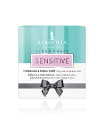 Kozmetika Afrodita Clean Phase Sensitive potovalni set, 3 kosi
