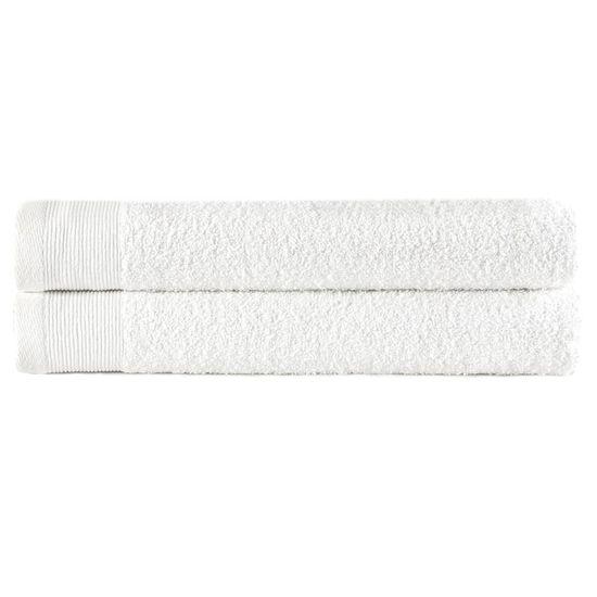 shumee Uteráky na ruky 2 ks biele 50x100 cm bavlnené 450 g/m2