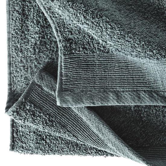 Greatstore Brisače za savno 2 kosa bombaž 450 gsm 80x200 cm zelene