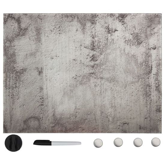 shumee Ścienna tablica magnetyczna, szklana, 80 x 60 cm