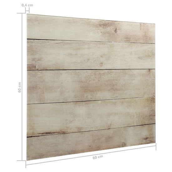 shumee Nástěnná magnetická tabule sklo 60 x 60 cm