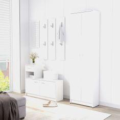 shumee Predsieňový šatník biely 55x25x189 cm drevotrieska
