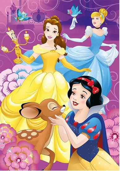 DINO puzzle księżniczki Disney nad wodą, 100 elementów XL