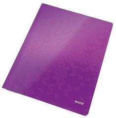 """Leitz Desky s rychlovazačem """"WOW"""", purpurová, lesklé, polaminovaný karton, A4 30010062"""