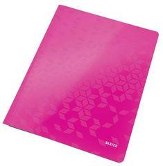 """Leitz Desky s rychlovazačem """"WOW"""", růžová, lesklé, polaminovaný karton, A4 30010023"""