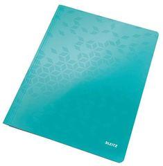"""Leitz Desky s rychlovazačem """"WOW"""", ledově modrá, lesklé, polaminovaný karton, A4 30010051"""