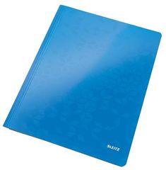 """Leitz Desky s rychlovazačem """"WOW"""", modrá, lesklé, polaminovaný karton, A4 30010036"""