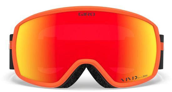 Giro gogle narciarskie Balance, pomarańczowe, czerwone soczewki