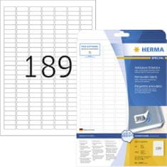Herma Movables® 10001 etikete, A4, 24,4 x 10 mm, 25/1